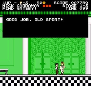 screenshot of the great gatsby nintendo nes game