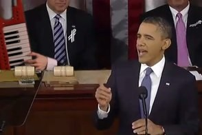 barack obama delivering state of the union auto-tuned by gregory brothers to iyaz's replay