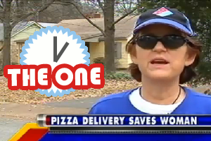 pizza delivery saves woman's life