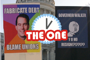 wisconsin union protest sign memes
