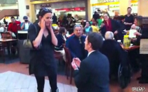 mall food court proposal goes wrong