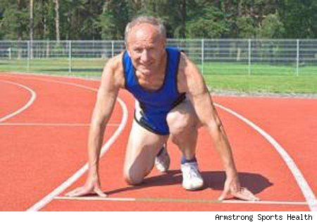 Old people playing sports