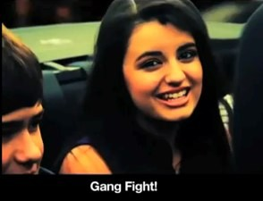 rebecca black friday gang fight bad lip reading