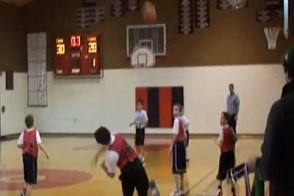 third grader shoots full court buzzer beater in portland oregon basketball game