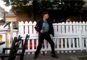 old man dancing to led zeppelin cover