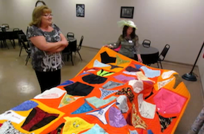 missouri man louis garret made a quilt from women's panties