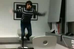 dude falls off a chair in twistednederland's february fail video compilation