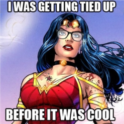 hipster wonder woman is a hipster super heroine
