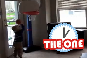 2 year old luke playing basketball