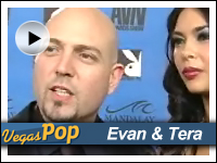 Evan Seinfeld & Tera Patrick at AVN Awards red carpet