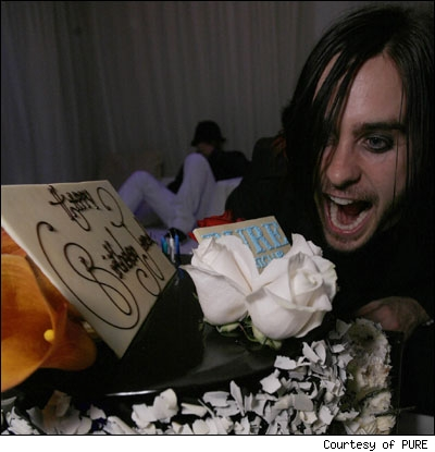 Jared Leto at his birthday party in Las Vegas