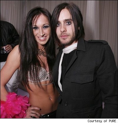 Jared Leto at his birthday party in Las Vegas with a Pussycat Doll