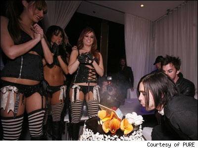 Jared Leto at his birthday party in Las Vegas, Nevada