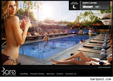 Bare Vegas website