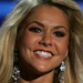 Kirsten Haglund in gown at Miss America