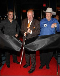 Mayor Goodman, Randy Kwasniewski and Doyle Brunson at Hard Rock Poker Lounge Grand Opening