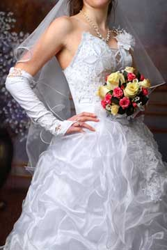 rent a bridal dress or buy one used to save money and sometimes help out others