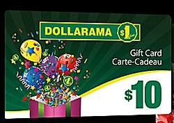 Gift cards at Dollarama