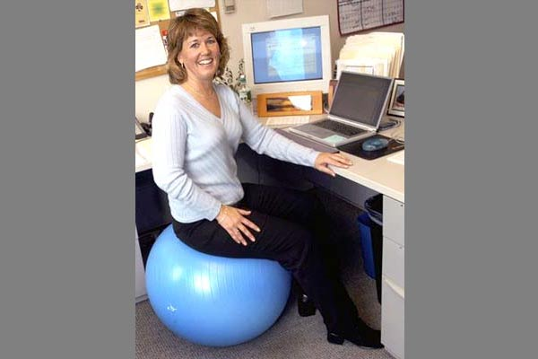 Use an Exercise Ball Instead of a Pricey Gym