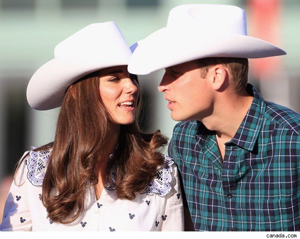 will and kate in Calgary for Stampede