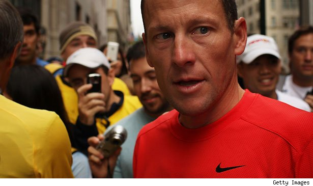 Lance Armstrong has given up on trying to prove his innocence in doping charges made by the international cycling federation