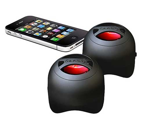 3. DBEST Duo Bluetooth Rechargeable Mini-Speaker Set