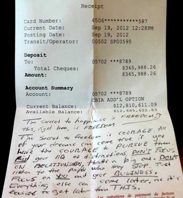 Bank Statement Guy left his bank statement in a cafe and hopes to inspire other entrepreneurss