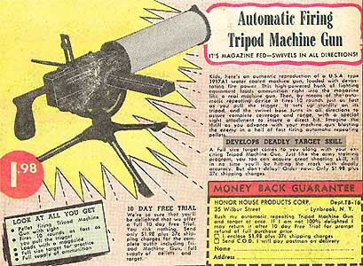Automatic Firing Tripod Machine Gun