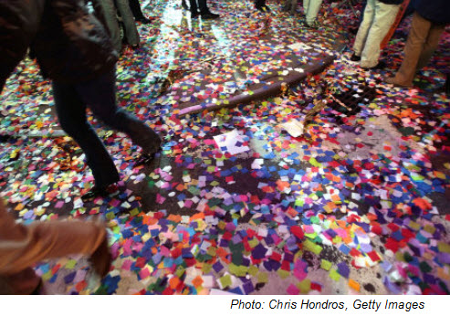 1. Where is the world's largest New Year's party?