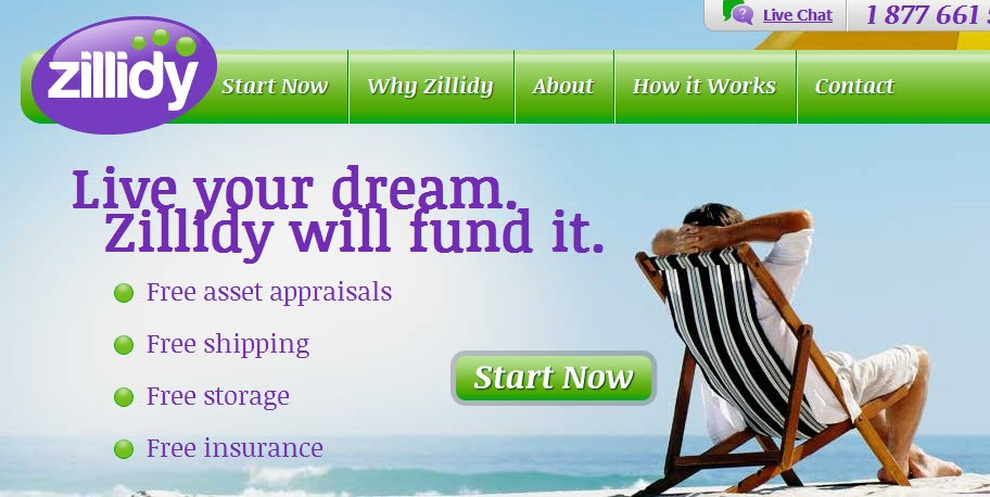 Zillidy is a new online lending service