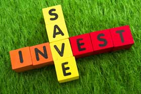 investing or saving: they're both alike, but investing is long-term while saving is generally shorter term and involves safe investments