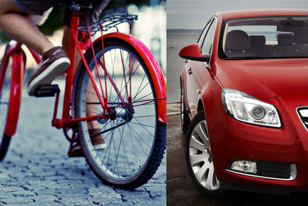 in the car versus bicycle contest, bicycles win as they are cheaper to buy and maintain