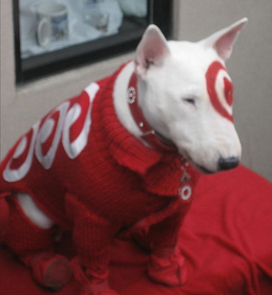 target dog toy. actually feed my dog.