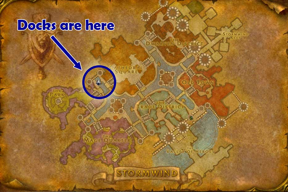 Stormwind docks location
