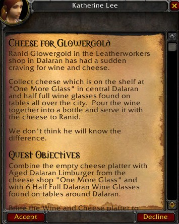 Cheese for Glowergold