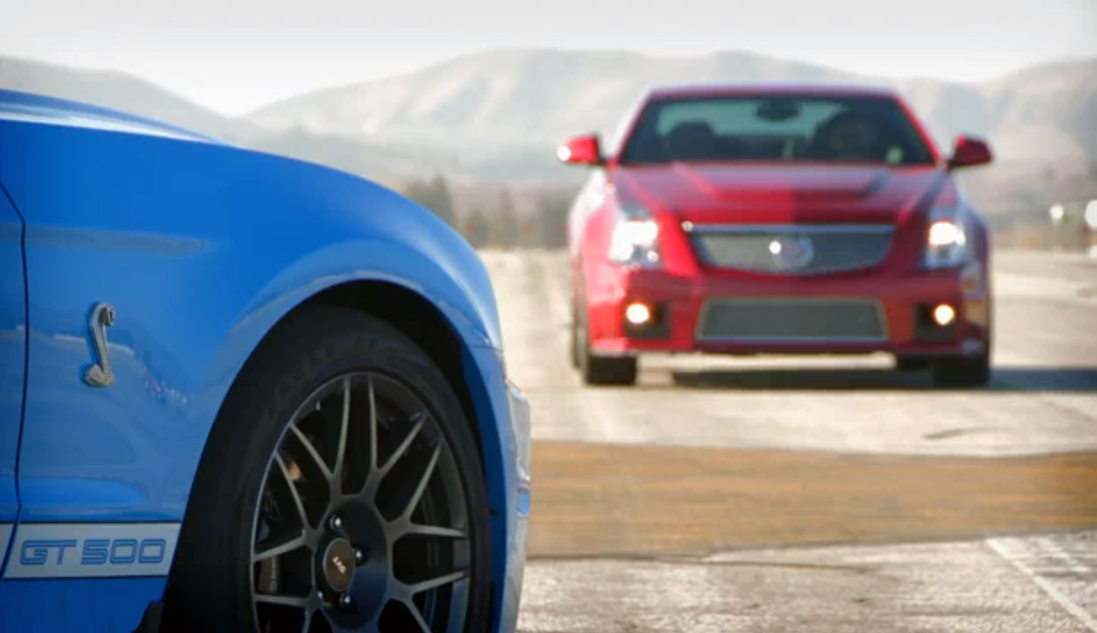 d427eadecb546 VIDEO  Rencoroso duelo entre Cadillac CTS-V y Shelby Mustang GT500
