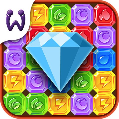 Diamond crush mania play match 4 puzzle game for free!