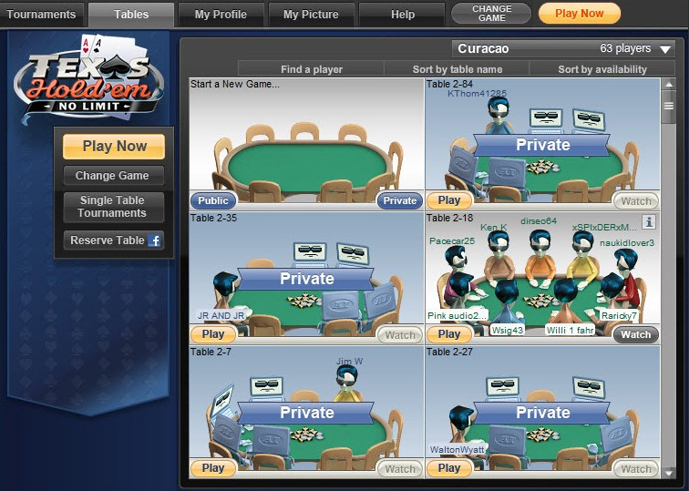 play texas hold em not online