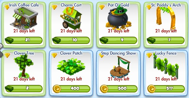 Pot O Gold Costs 9 Park Cash Adds 22 Pority Points To Your St Paddy S Arch 7 18