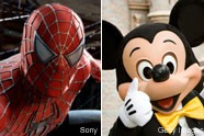 Spider-Man and Mickey Mouse