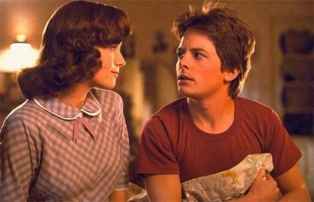 Lea Thompson and Michael J. Fox in 'Back to the Future'