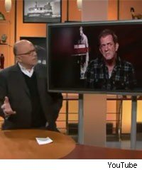 Mel Gibson interviewed by US TV host Dean Richards