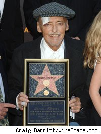 Dennis Hopper is honoured with star on the Hollywood Walk Of Fame on March 26, 2010 in Los Angeles, California.