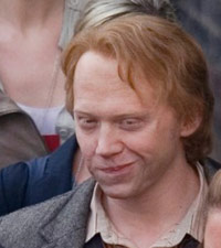Rupert Grint on the set of Harry Potter and the Deathly Hallows