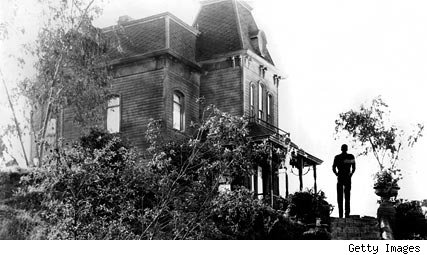 The Bates House in 'Psycho'