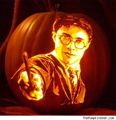 These movie themed jack o lanterns are cooler than your for Harry potter pumpkin carving templates