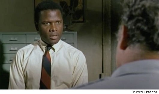 Sidney Poitier in 'In the Heat of the Night'