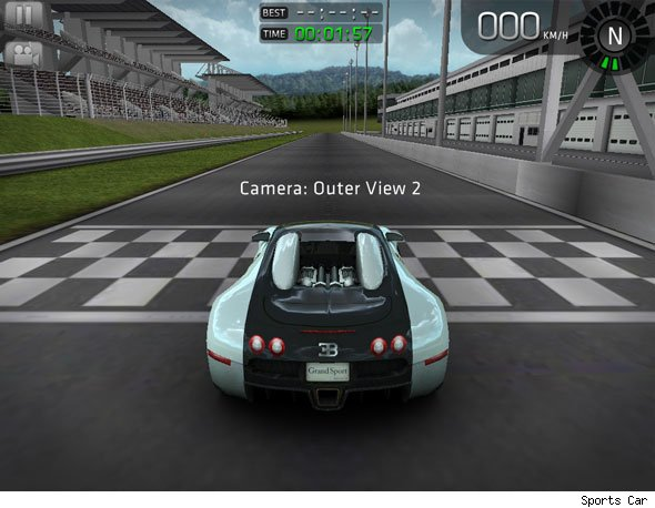 Car Interface Bottom Center Game