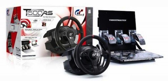 thrustmaster k ndigt t500rs an gran turismo 5 lenkrad f r. Black Bedroom Furniture Sets. Home Design Ideas