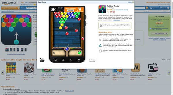 Amazon Appstore for Android Test Drive